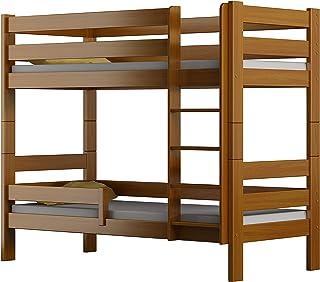 Children's Beds Home - Lit superposé en bois massif – Toby pour enfants – Taille 180 x 90, couleur aulne, sans tiroir, san...