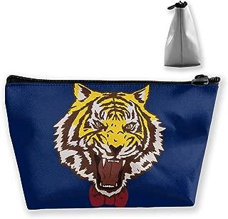 Double Y Yuri Plisetsky Tiger Women Cosmetic Bags Portable Pouch Trapezoidal Storage Bag Travel Bag with Zipper