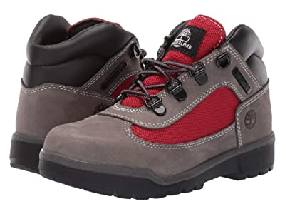 Timberland Kids Fabric/Leather Field Boot (Little Kid) (Grey Waterbuck) Boys Shoes