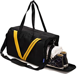 INFANZIA Sports Duffel Bag for Men & Women,Gym Travel Bags Workout Bag with Wet Pocket & Shoes Compartment