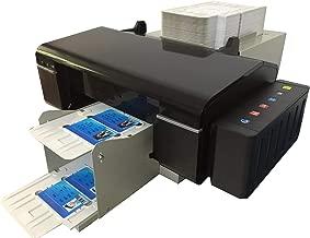 Syoon - Máquina de impresión automática de Tarjetas de identificación de PVC (51 Piezas, Bandeja de Tarjeta de PVC para Impresora)
