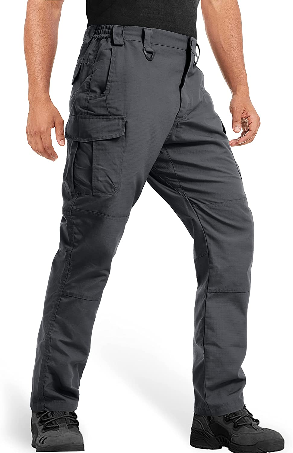 MAGCOMSEN Men's Tactical Pants 9 Pockets Ripstop, Water Repellent, Cargo Pants for Work, Hiking, Hunting : Sports & Outdoors