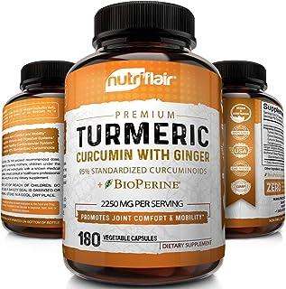 Turmeric Curcumin with Ginger & BioPerine Black Pepper Supplement: Anti-Inflammatory, Antioxidant, Anti Aging, 100% Natura...