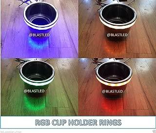 BLAST LED - 4pc RGB LED Cup Holder Light Ring - Boat RV ATV/UTV