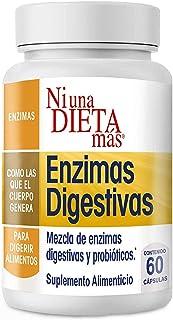 NI UNA DIETA MÁS - Reduce el Abdomen Inflamado por Quesos, Frutas, Dulces, Carnes, Vegetales y Leches - Enzimas Digestivas...