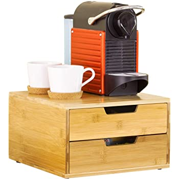 SoBuy Estante Cafetera, Soporte para Cápsulas de Café, con 2 Cajón, de Bambú, FRG82-N,ES: Amazon.es: Hogar