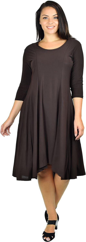 Dare2BStylish Plus Size Mid Calf Midi A Line Dress