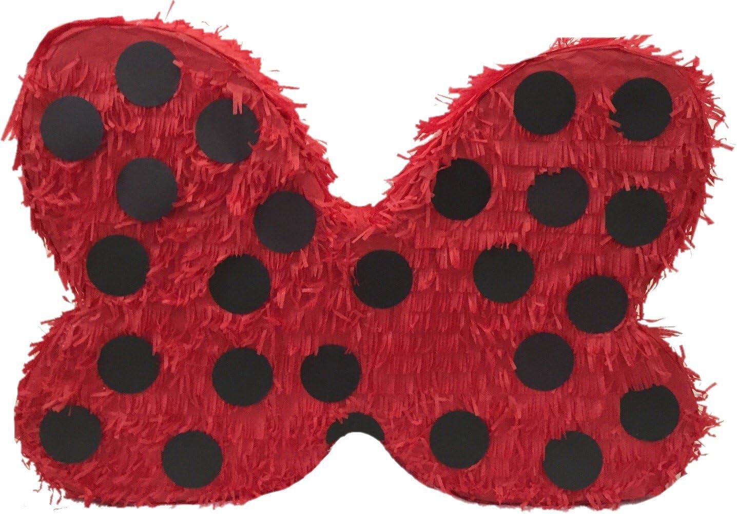 APINATA4U Large Red Bow with Nashville-Davidson Mall Pinata Black Dots Polka service
