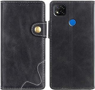 MOONCASE Case for Redmi 9C, Premium PU Leather Cover Wallet Pouch Flip Case Card Slots Magnetic Closure Mobile Phone Prote...