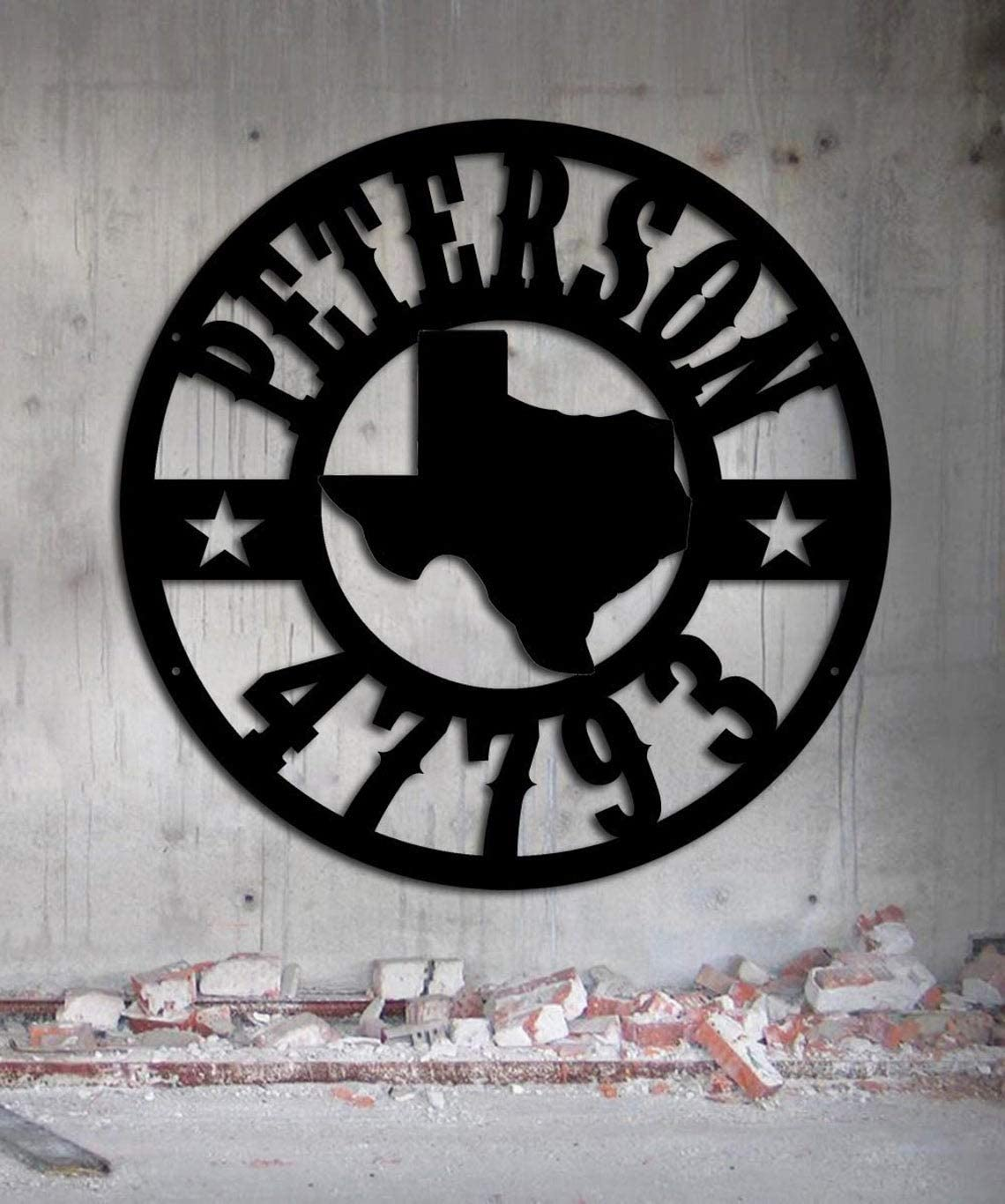 VinMea 激安 Texas Address 47793 Metal Decor Wall Ho 日本全国 送料無料 Art