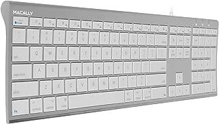 mac キーボード US配列 有線 Windows兼用 オールアルミフレーム スリム 静音性に優れたシザースイッチ(パンタグラフ) フルサイズ 110キー テンキー付き iMac Pro iMac MacBook Pro MacBook Air対応 MacとWindowsPC 対応 (ACEKEYA)