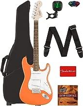 Fender Squier Affinity Series Stratocaster Guitar - Laurel Fingerboard, Competition Orange Bundle with Gig Bag, Tuner, Strap, Picks, and Austin Bazaar Instructional DVD