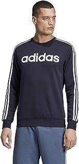 adidas Men's 3-stripes Sweatshirt Crew Neck Sweatshirt