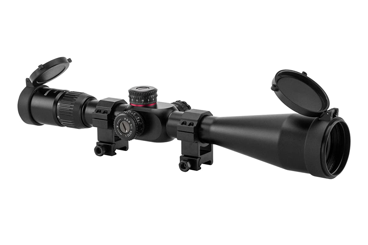 Monstrum Tactical G2 6-24x50 First Focal Plane (FFP) Rifle Scope with Illuminated Rangefinder Reticle and Adjustable Objective