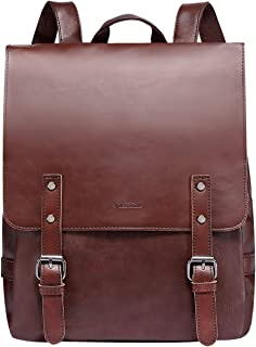 ZEBELLA Womens Leather Backpack Vintage Brown Travel Daypack College Bookbag-Coffee