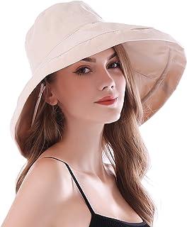 iHomey Women Wide Brim Sun Hats Foldable UPF 50+ Sun Protective Bucket Hat