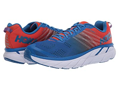 Hoka One One Clifton 6 (Mandarin Red/Imperial Blue) Men