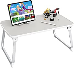 Foldable Lap Desk for Laptop, SAIJI PU Leather Laptop Bed Tray Table, Portable Laptop Table for Bed/Couch/Sofa/Home/Office...