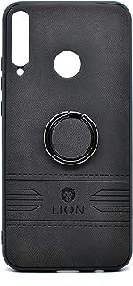 حافظة حماية خلفية فاخرة من الجلد مع حامل لهاتف هواوي واي 7 بي من ليون (اسود)