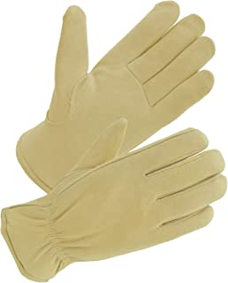 SKYDEER 3M Thinsulate Insulation Thermal Winter Gloves with Windproof & Soft & Warm Full Deerskin Suede Leather (SD8671T)