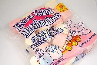 Dulce de la Rosa Extra Giant Marshmallows - Strawberry & Vanilla Flavor, 24.7 oz, 700 g, Pack of 3 Bags