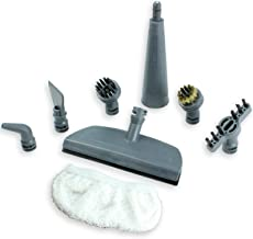 Qualtex First4spares Brush Nozzle and Window Cleaning Pad Tool Accessory Pack for VAX Steam Cleaners, White/Grey