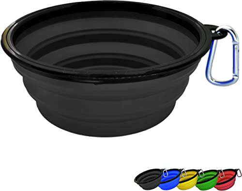 Zenify Dog Bowl - Extra Large Collapsible Foldable Food and Water Feeder Dish - Portable Travel Training for Pets Pup...