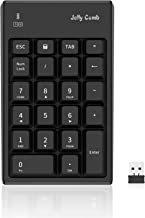 Wireless Number Pad, Jelly Comb Numeric Keypad 2.4G Number Pad Financial Accounting Keypad 22 Key for Laptop, PC, Desktop,...