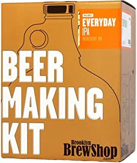 Brooklyn Brew Shop Everyday IPA Beer Making Kit: All-Grain Starter Set With Reusable Glass Fermenter, Brew Equipment, Ingredients (Malted Barley, Hops, Yeast) Perfect For Brewing Craft Beer At Home