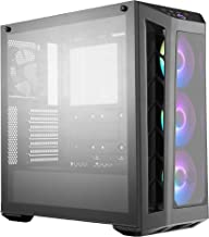 Cooler Master MasterBox MB530P ATX Mid-Tower w/ 3 Tempered Glass Panel, Front Side Mesh Intakes & 3X 120mm Addressable RGB Fans w/ARGB Controller