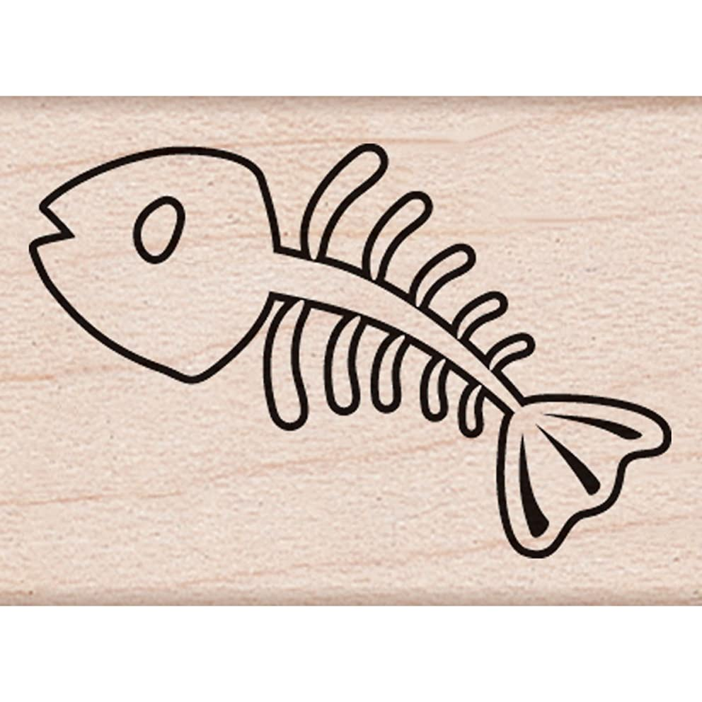 Hero Arts Fishbone Woodblock Stamp
