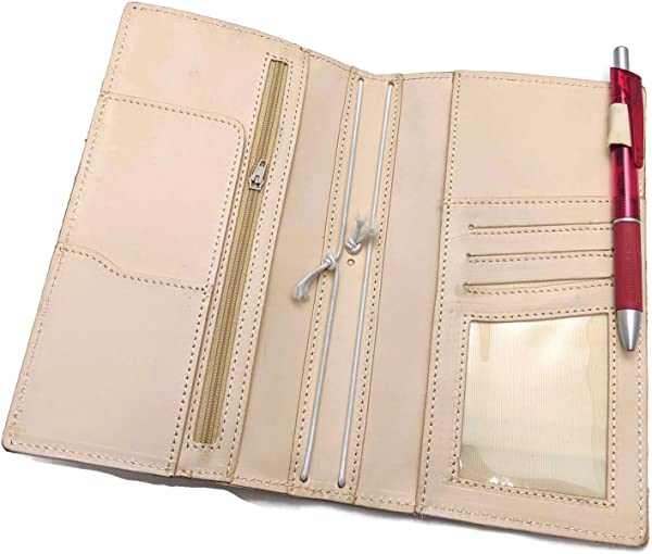 Hobonichi Double Weeks Mega Cover Travelers Notebook Wallet Combination Nude Undyed Veg Tanned Genuine Leather