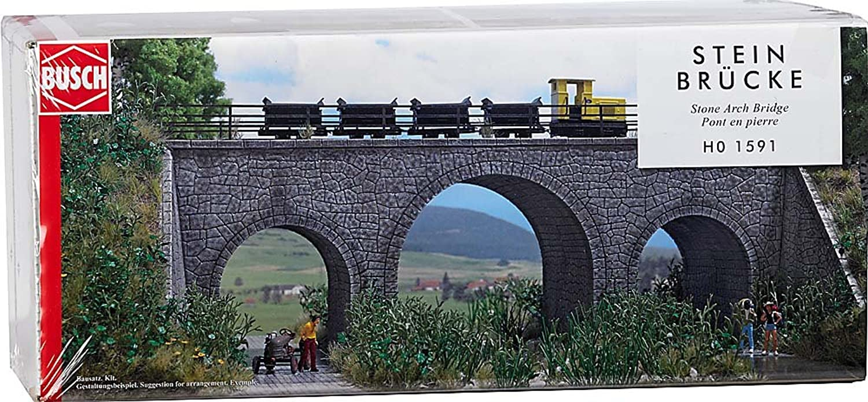 producto de calidad Busch Puente Puente Puente de modelismo ferroviario H0 escala 1 87 (BUE1591)  el más barato