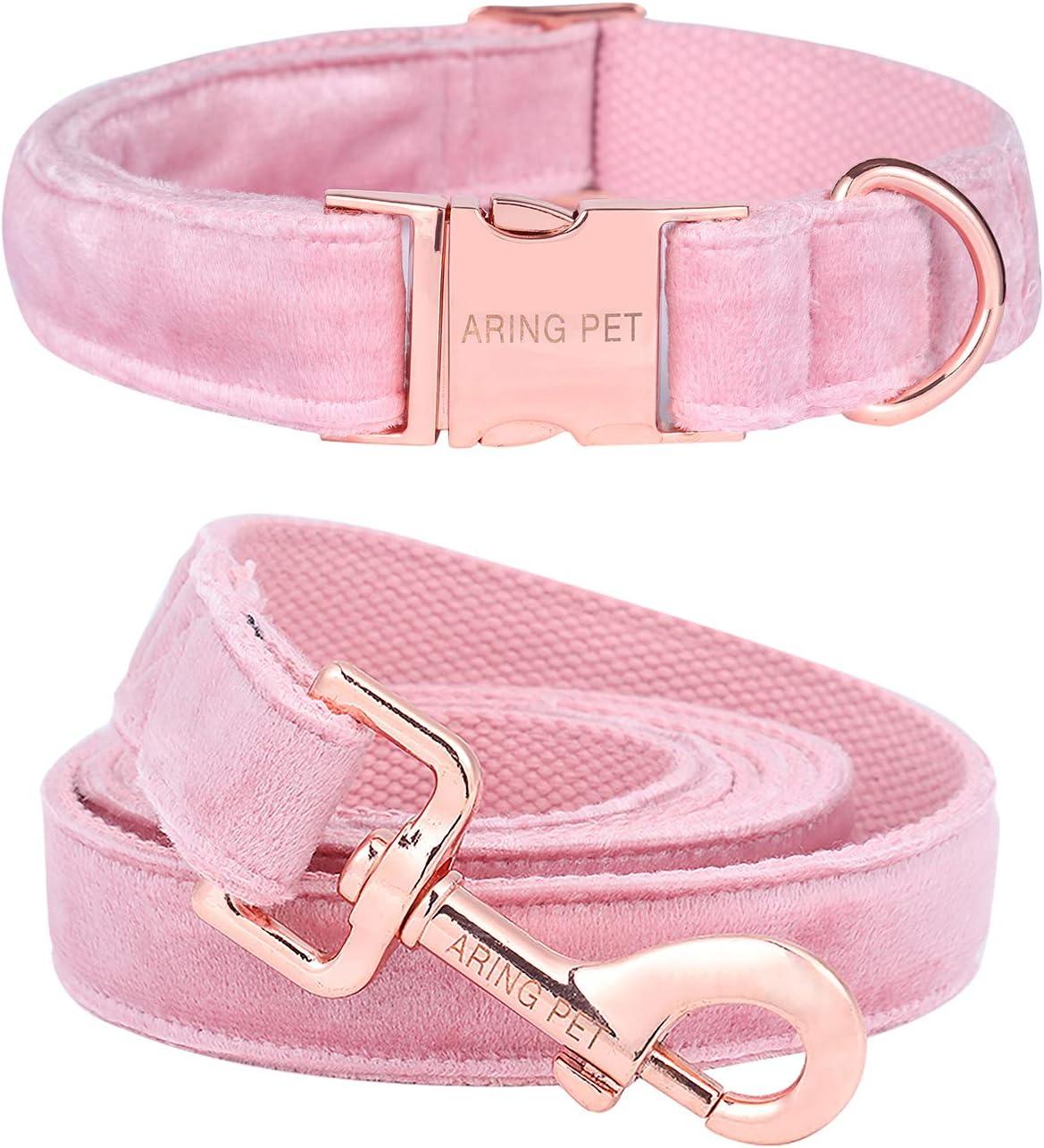 ARING PET Dog Collar Velvet and Cash special price Set Great interest Leash