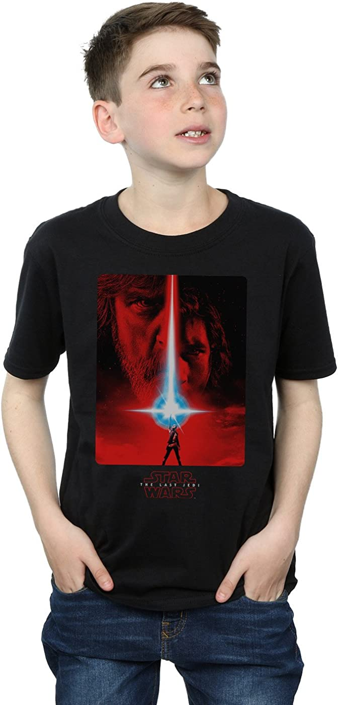 STAR WARS Boys The Last Jedi Red Poster T-Shirt 12-13 Years Black