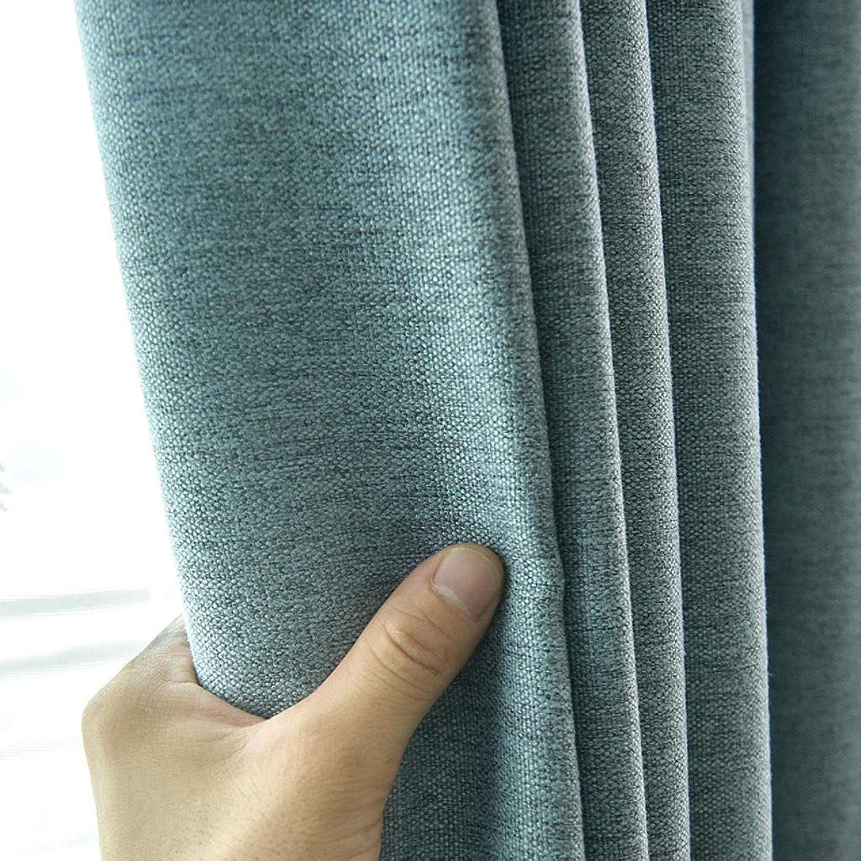 時代遅れ習熟度啓発する遮光カーテン/厚くするスーパーソフト不透明部屋の装飾アイレットカーテンのために適した窓リビングルーム寝室-水色-200バツ270CM(79バツ106インチ)