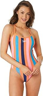 Speedo Women's High Leg Open X Back One Piece Polyester