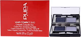 Pupa Milano Vamp! Compact Duo Eyeshadow - For Pure Color Payoff - Double Palette - High Concentration of Pigments and Comf...