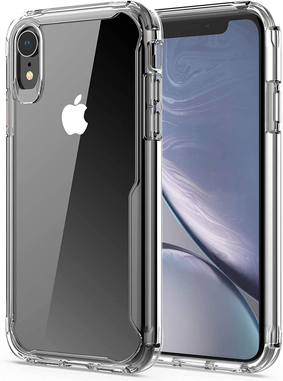 iPhone XR Case, Slim Crystal Clear Soft Shockproof Case Heavy Duty Protective Cover Scratchproof Case,Reinforced TPU Bumper Hard PC Back Cover for iPhone XR 6.1 inch (Crystal Clear)