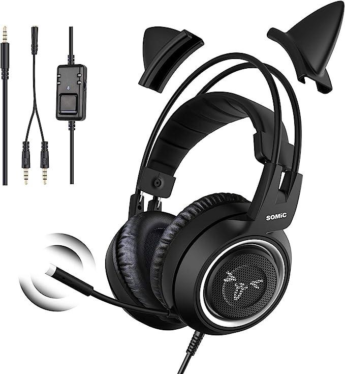 13533 opinioni per SOMiC Cuffie da gioco per Xbox One, audio surround stereo con eliminazione del