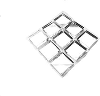 100 Pieces Mirror Tiles Mosaic Craft Tiles 1/2-Inch x 1/2 Inch