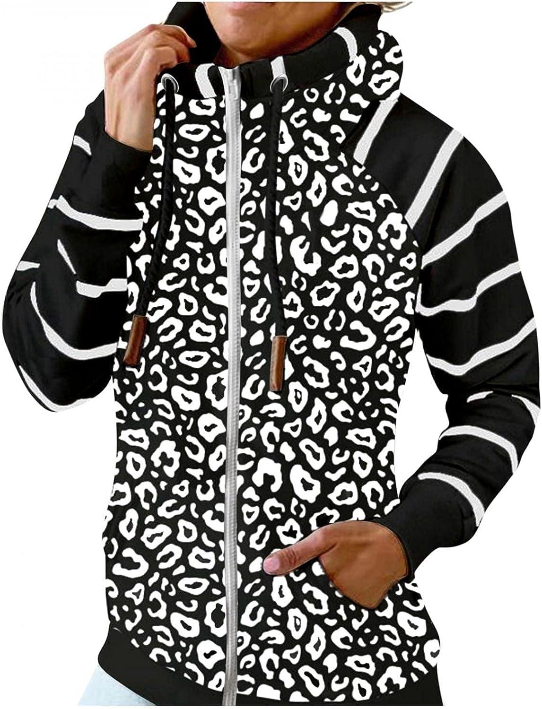 UOCUFY Hoodies for Women Zip Up,Warm Drawstring Turtle Neck Lightweight Sweatshirts Long Sleeve Pocket Pullover Hooded