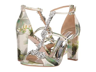 Badgley Mischka Laney (Fresh Floral Textile/Chiffon) High Heels