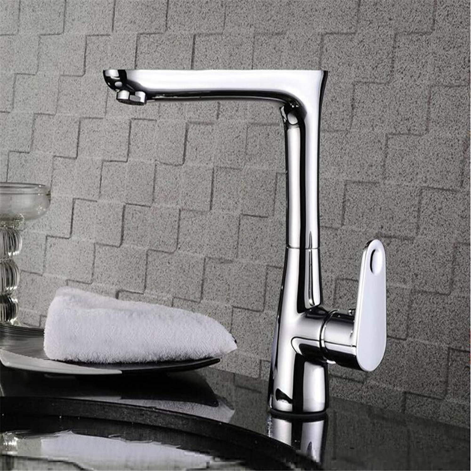 Basin Taps Swivel Spout Faucet Copper Antique Basin Faucet Hot and Cold Water Bath Heightening Single Hole Single Sink Faucet