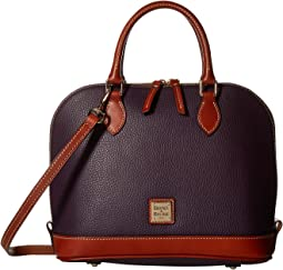 Pebble Leather New Colors Zip Zip Satchel