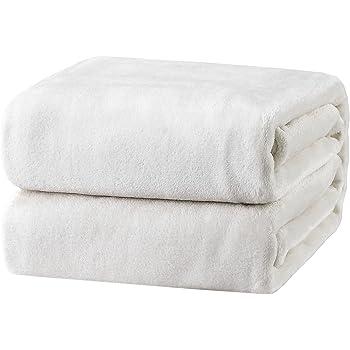 Bedsure Fleece Blanket Throw Size White Lightweight Super Soft Cozy Luxury Bed Blanket Microfiber