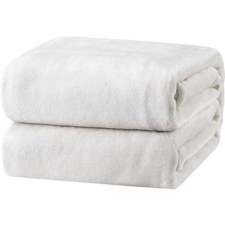 Double Queen Size Ribbed Polar Fleece Blanket Rug Throw Grey 220x240CM