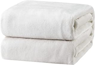 Bedsure Fleece Blanket King Size White Lightweight Super Soft Cozy Luxury Bed Blanket Microfiber