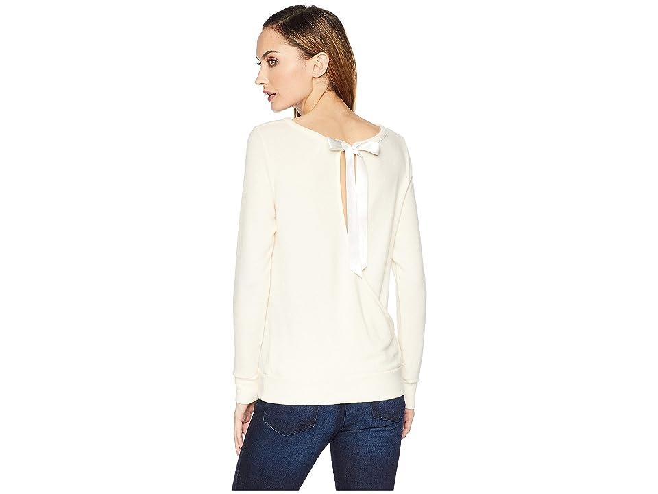 Three Dots Boat Neck Brushed Sweater (Cream) Women