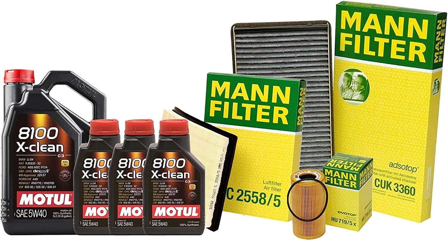 8L 8100 X-CLEAN 5W40 New product Oil Filter with Boxs Service Limited time cheap sale Compatible kit